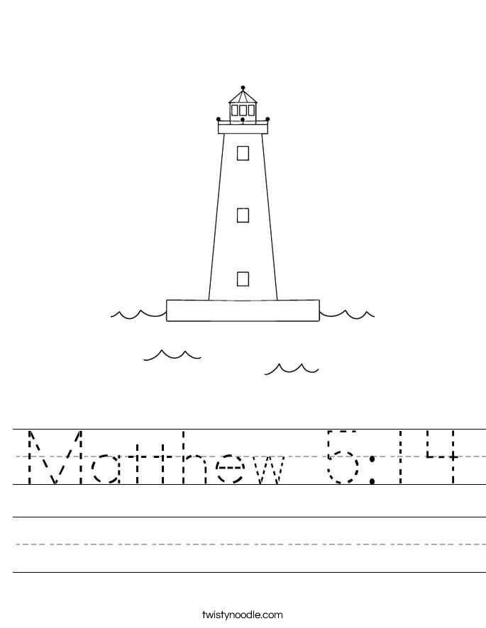 Matthew 5:14 Worksheet