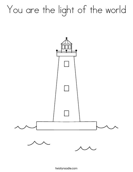 you are the light of the world coloring page