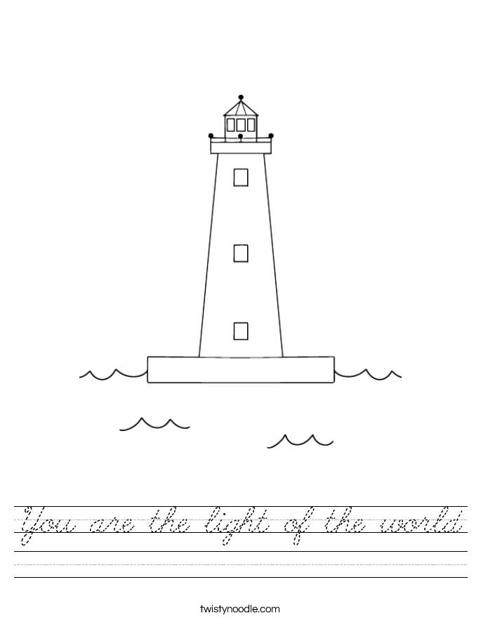 You are the light of the world Worksheet