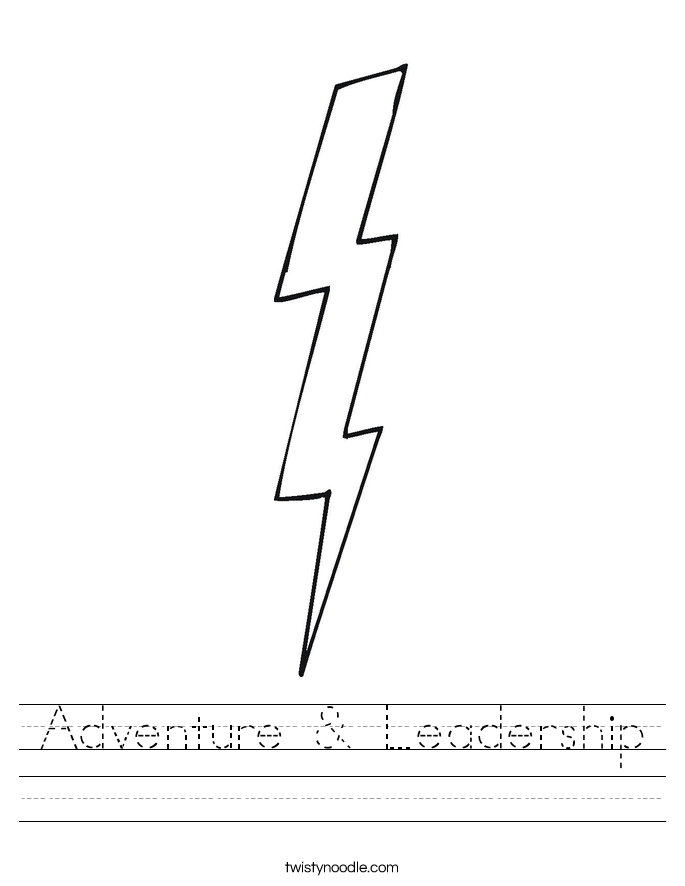 Adventure & Leadership Worksheet
