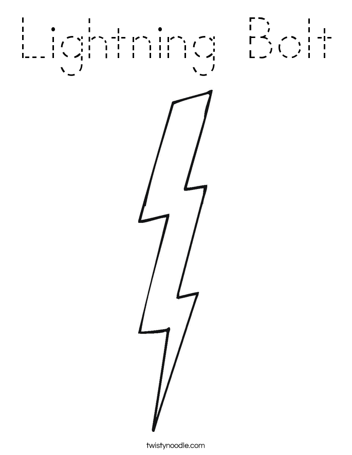 lightning bolt coloring pages - lightning bolt coloring page tracing twisty noodle