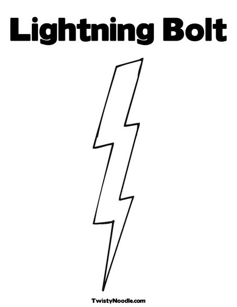 Free Coloring Pages Of Flash Symbol Lightning Bolt Coloring Page