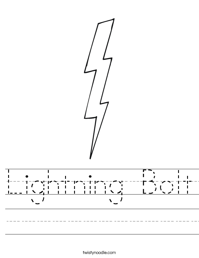 Lightning Bolt Worksheet