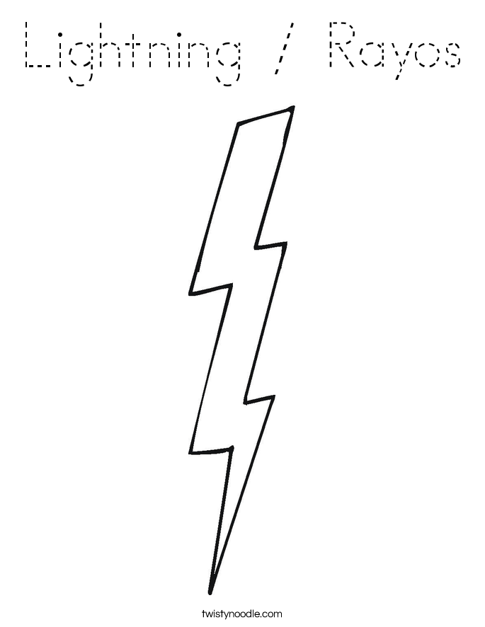Lightning / Rayos Coloring Page