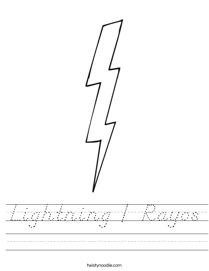 Lightning / Rayos Worksheet