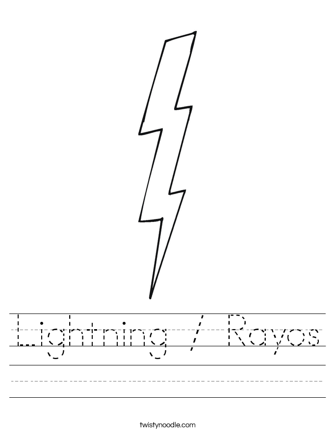 Lightning / Rayos Worksheet