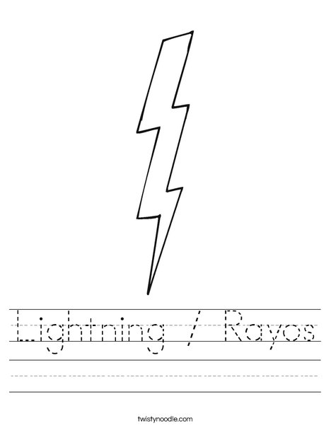 Lightning Worksheet