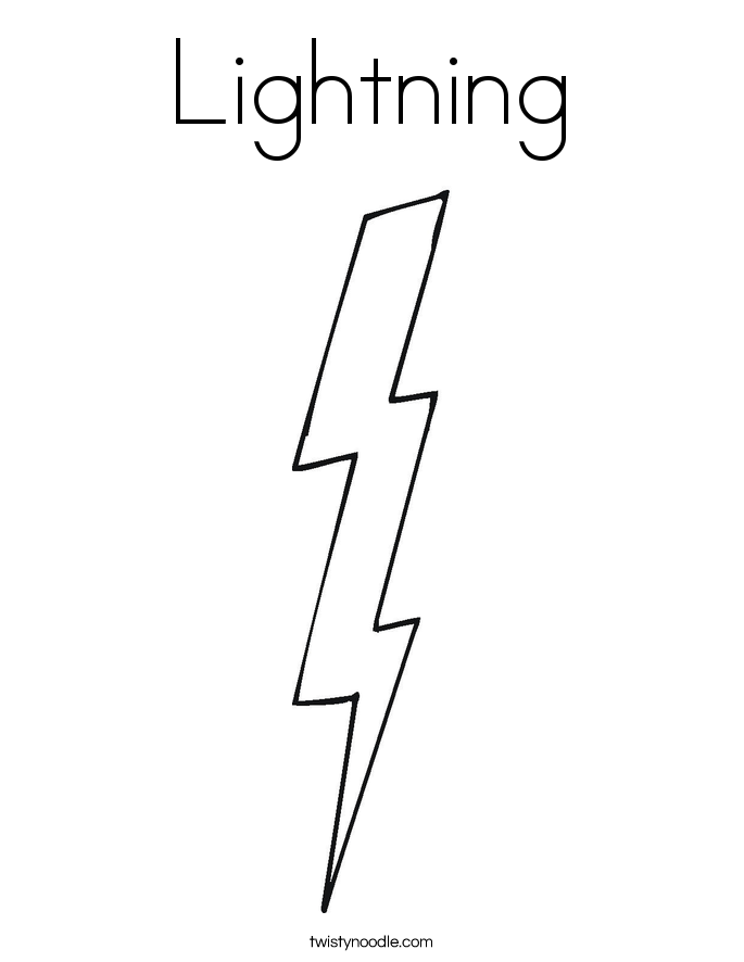 how to draw a realistic lightning bolt