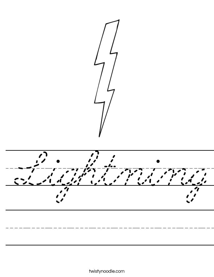 Lightning Worksheet