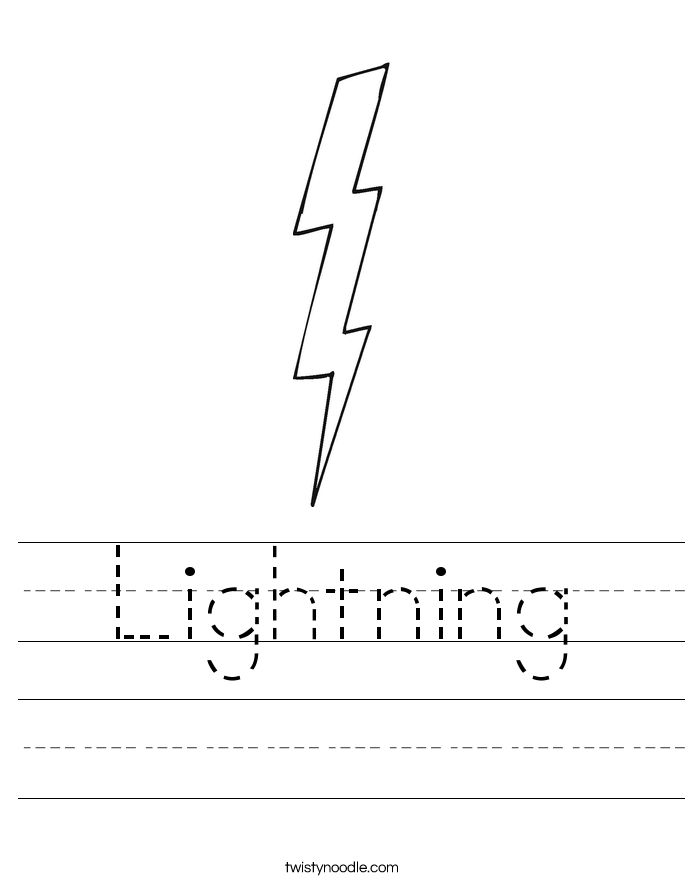 Lightning Worksheet Twisty Noodle