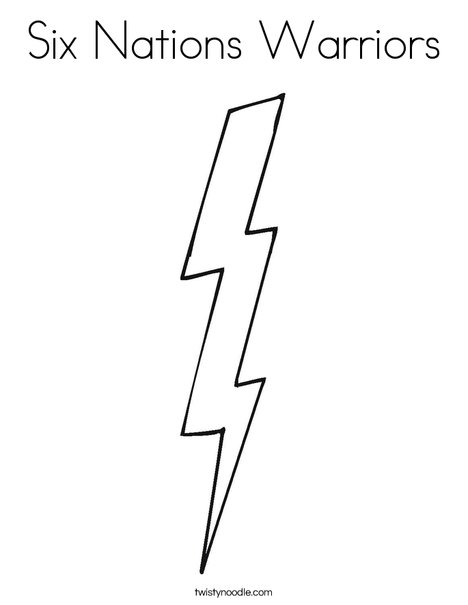 Lightning Coloring Page