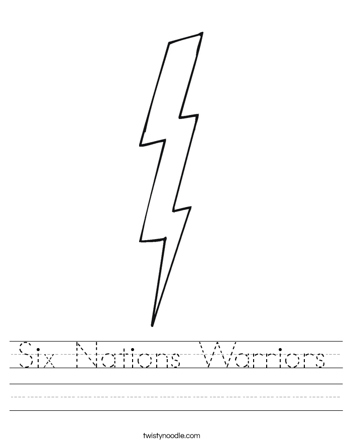 Six Nations Warriors Worksheet