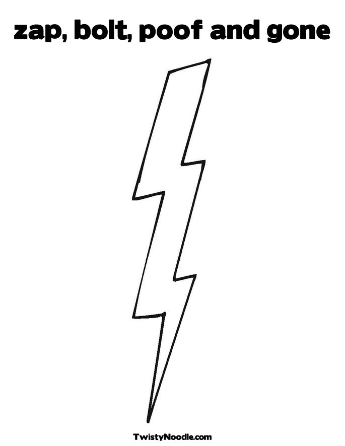 Lightning Bolt Coloring Page Coloring Pages Lightning Bolt Coloring Page
