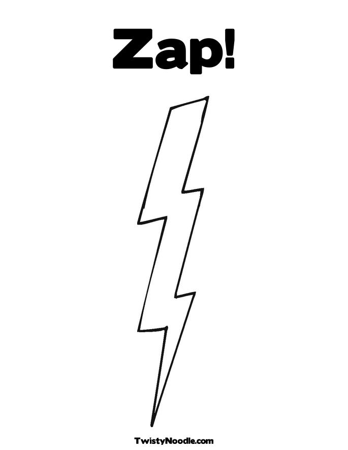 Lighting Bolt Colouring Pages Page 2 Lightning Bolt Coloring Page