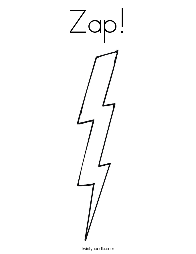 Zap! Coloring Page