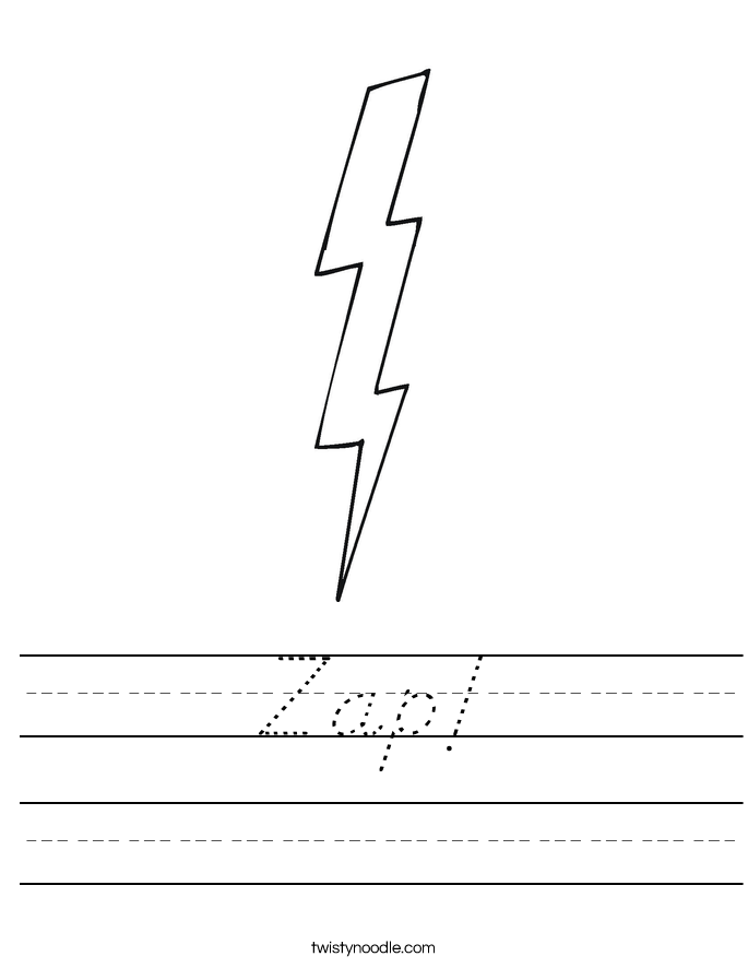 Zap! Worksheet