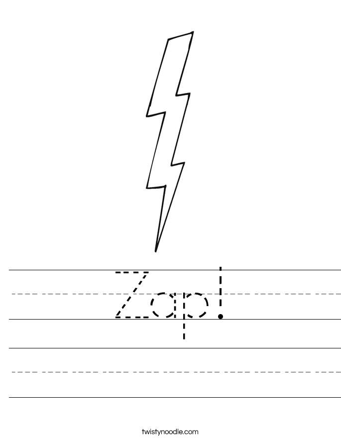 Zap! Worksheet