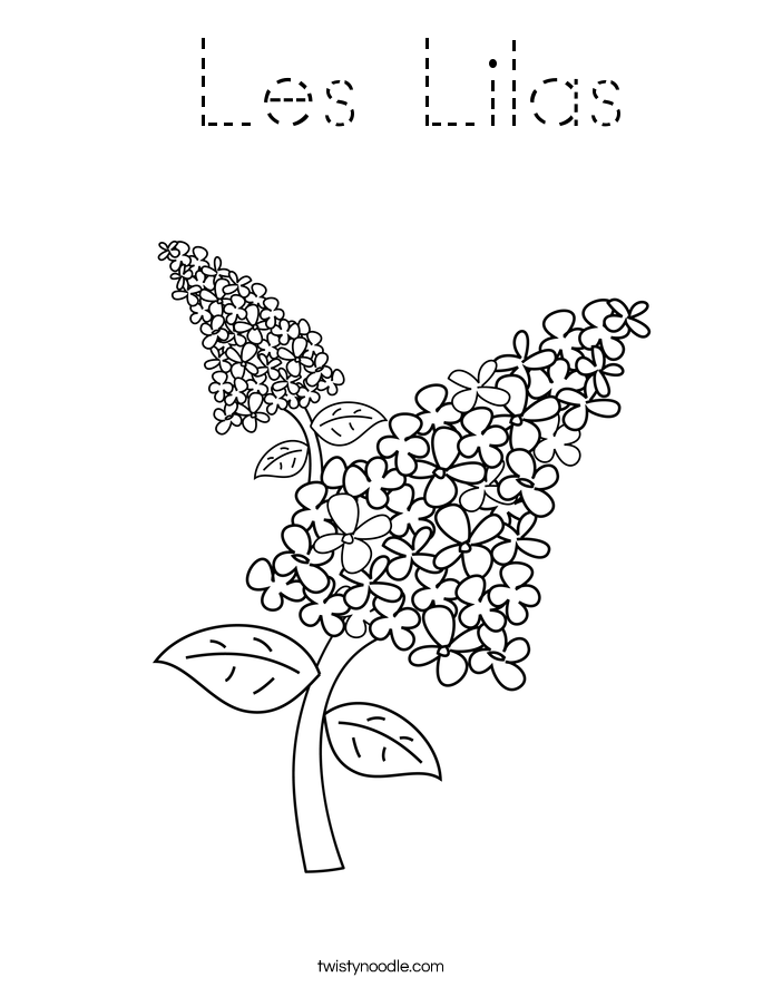 Les Lilas Coloring Page