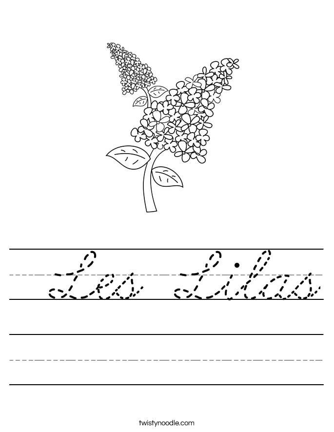 Les Lilas Worksheet