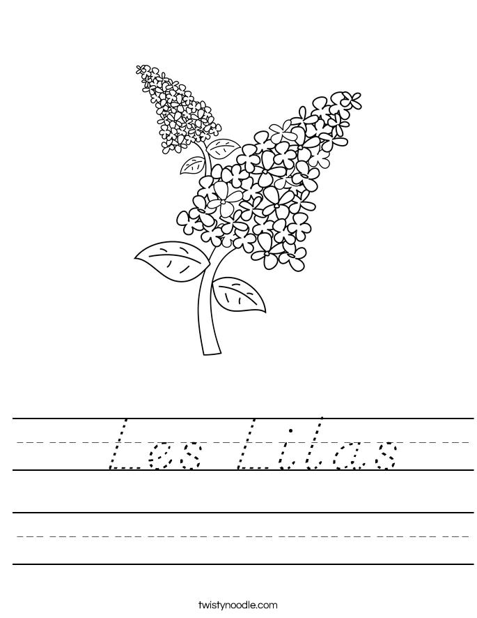 Les Lilas Worksheet
