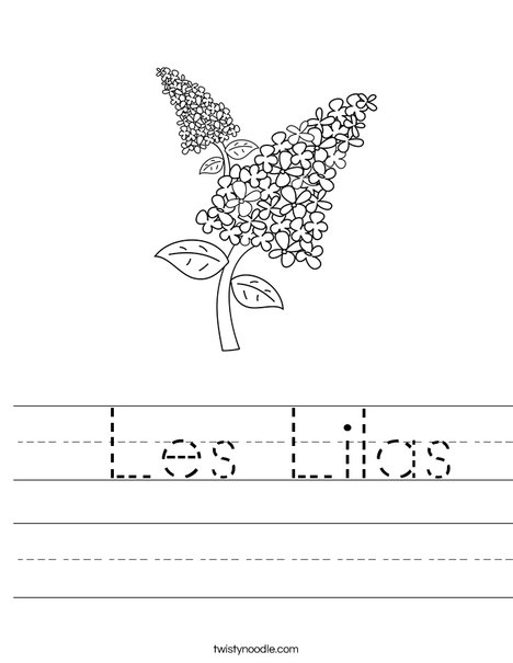 Lilacs Worksheet