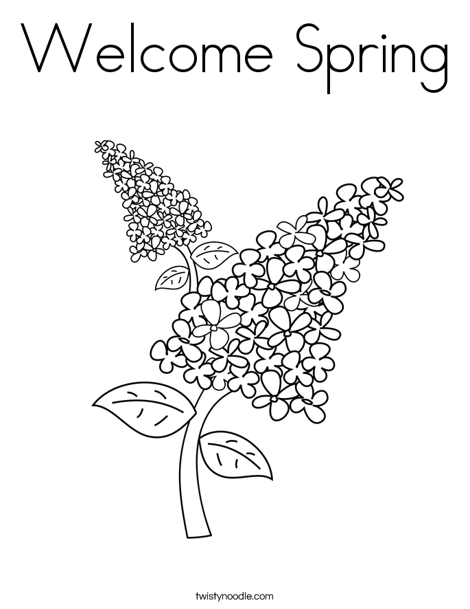 Wel e Spring Coloring Pages