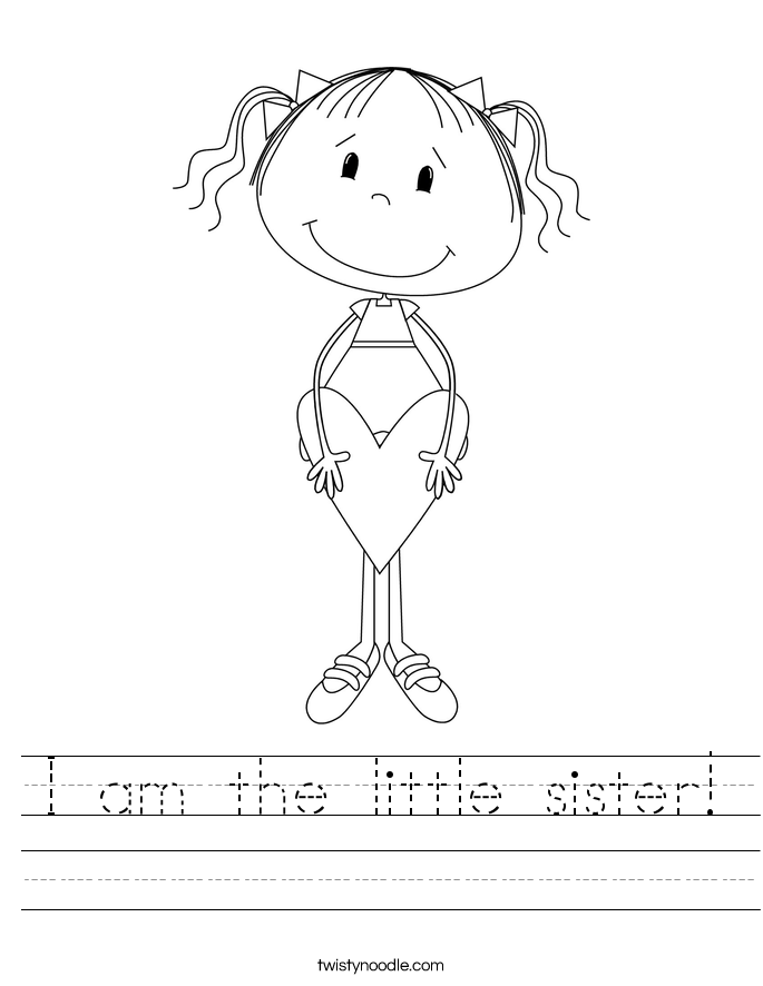 I am the little sister! Worksheet