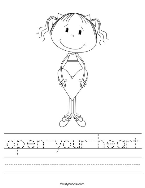 Lilly with Heart Worksheet