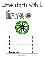 Lime starts with l Coloring Page
