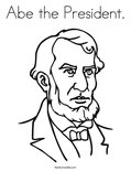 Abe the President.Coloring Page