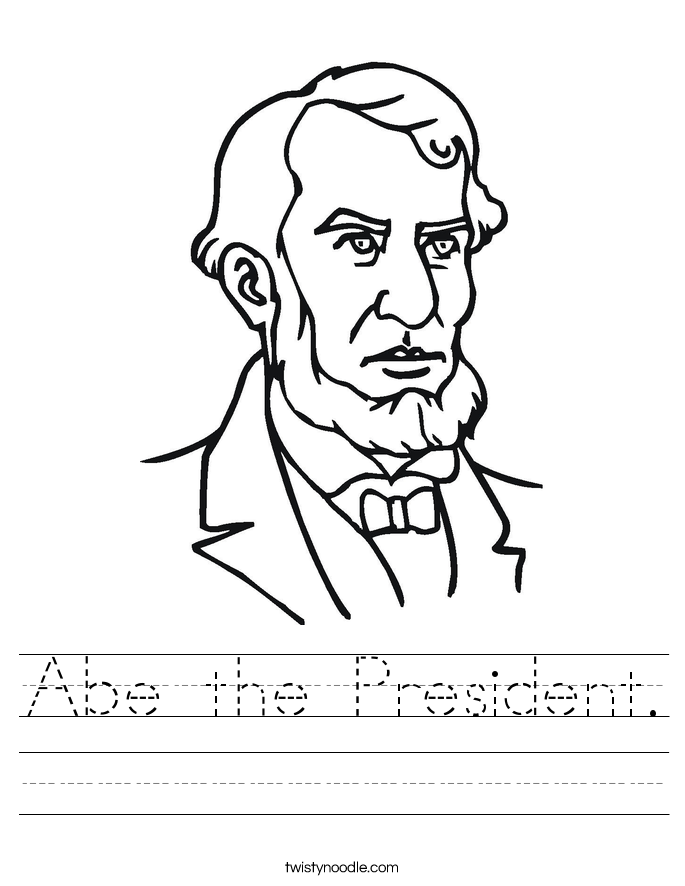 Abe the President. Worksheet