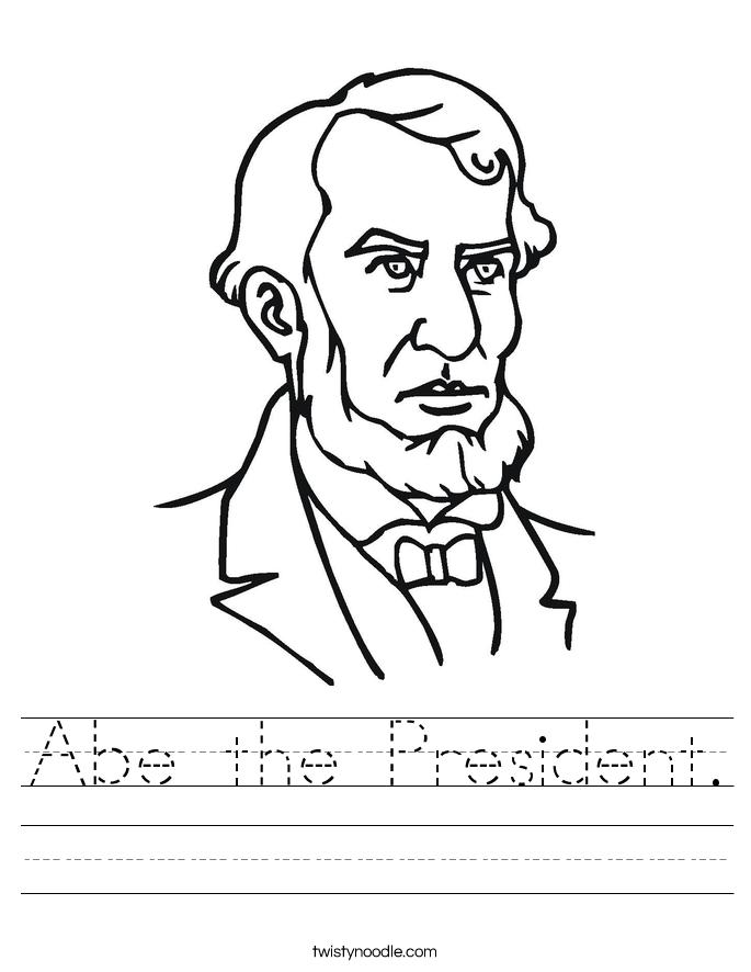 Abe the President. Worksheet