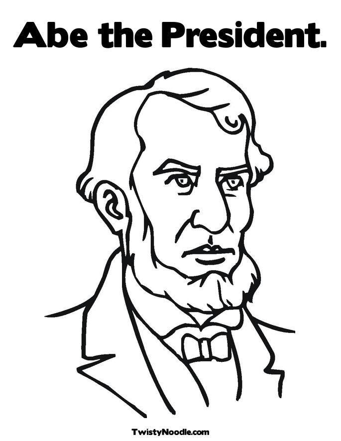 Honest Abe Lincoln history coloring pages for kid 055