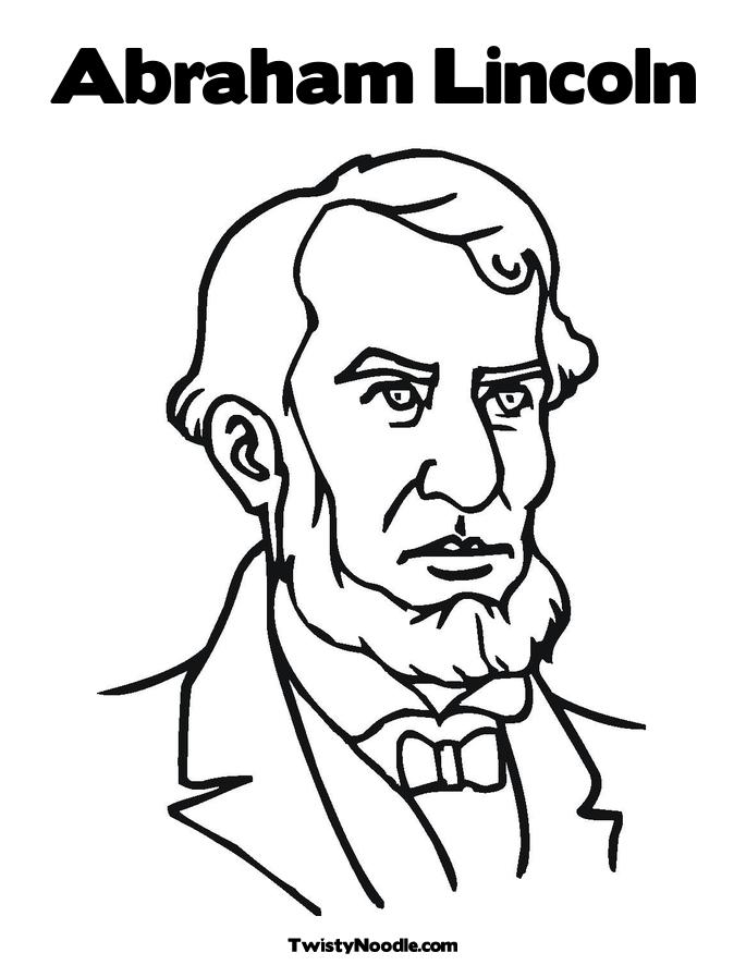 coloring pages abraham lincoln - abraham lincoln free colouring pages