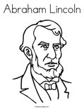 Abraham LincolnColoring Page