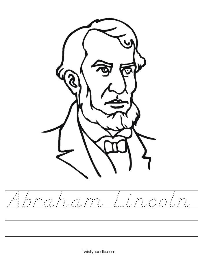Abraham Lincoln Worksheet
