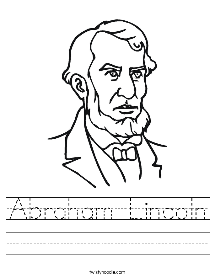 Abraham Lincoln Worksheet - Twisty Noodle