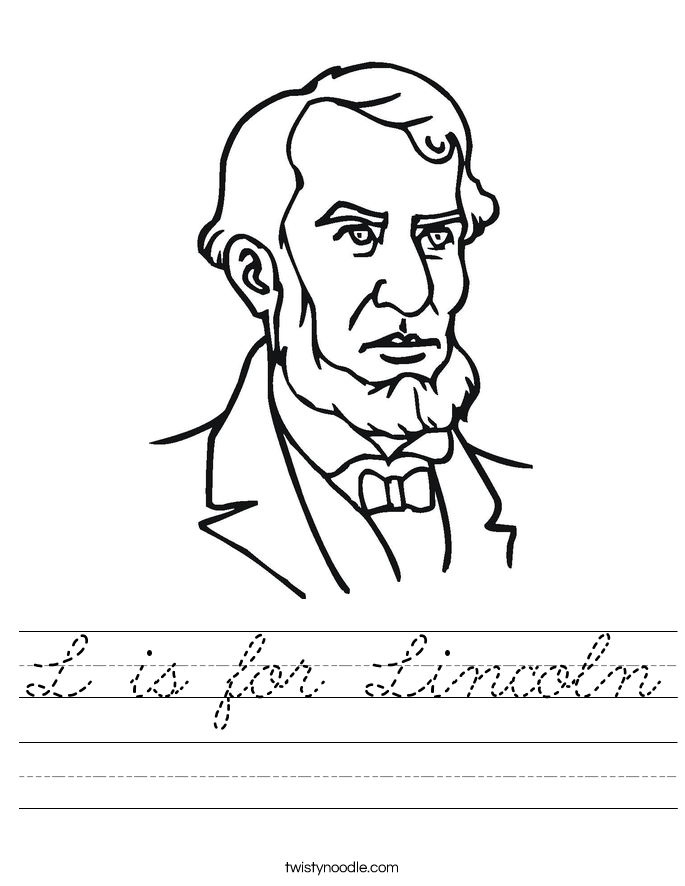 L is for Lincoln Worksheet