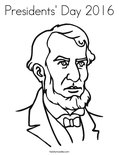 Presidents' Day 2016Coloring Page