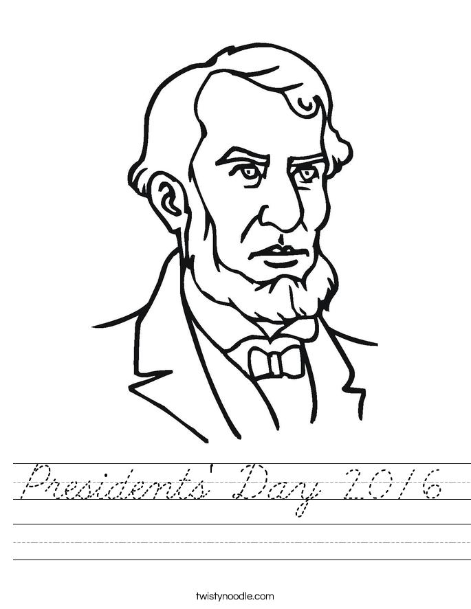 Presidents' Day 2016 Worksheet
