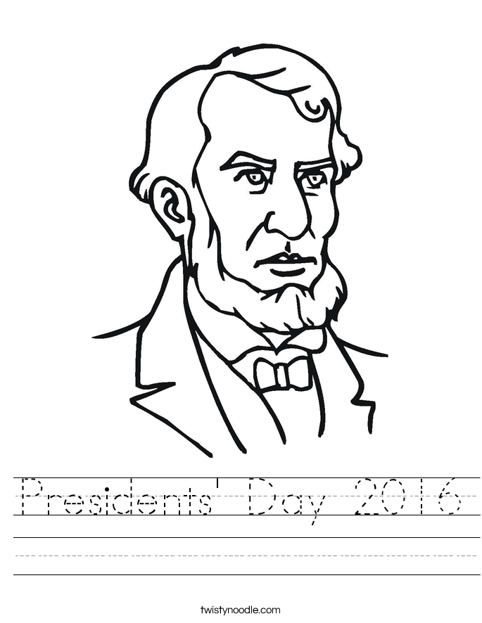 Presidents' Day 2016 Worksheet