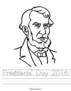 Presidents' Day 2016 Handwriting Sheet