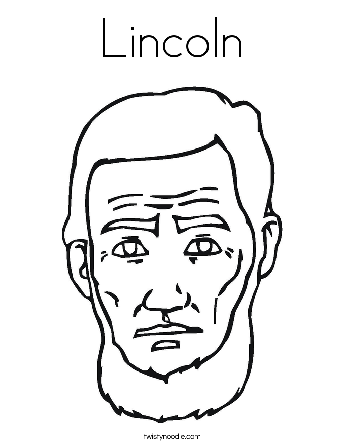 Lincoln coloring page twisty noodle for Lincoln coloring pages