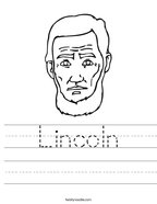 Lincoln Handwriting Sheet