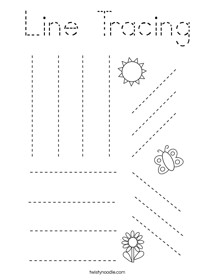 Line Tracing Coloring Page