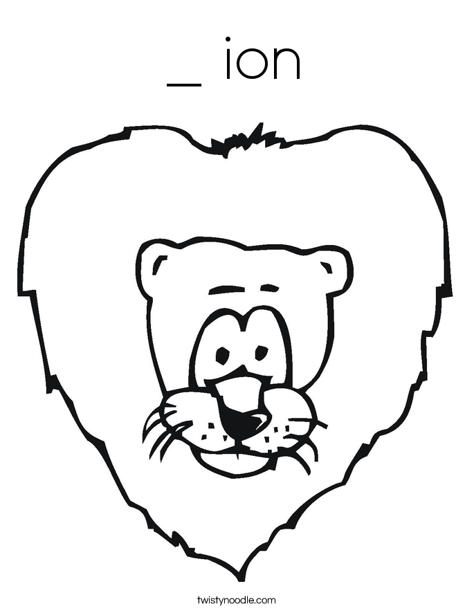 _ ion Coloring Page