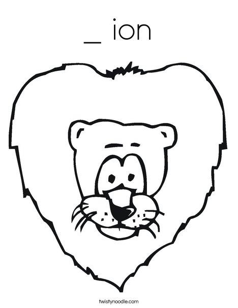 Cartoon Lion Coloring Page