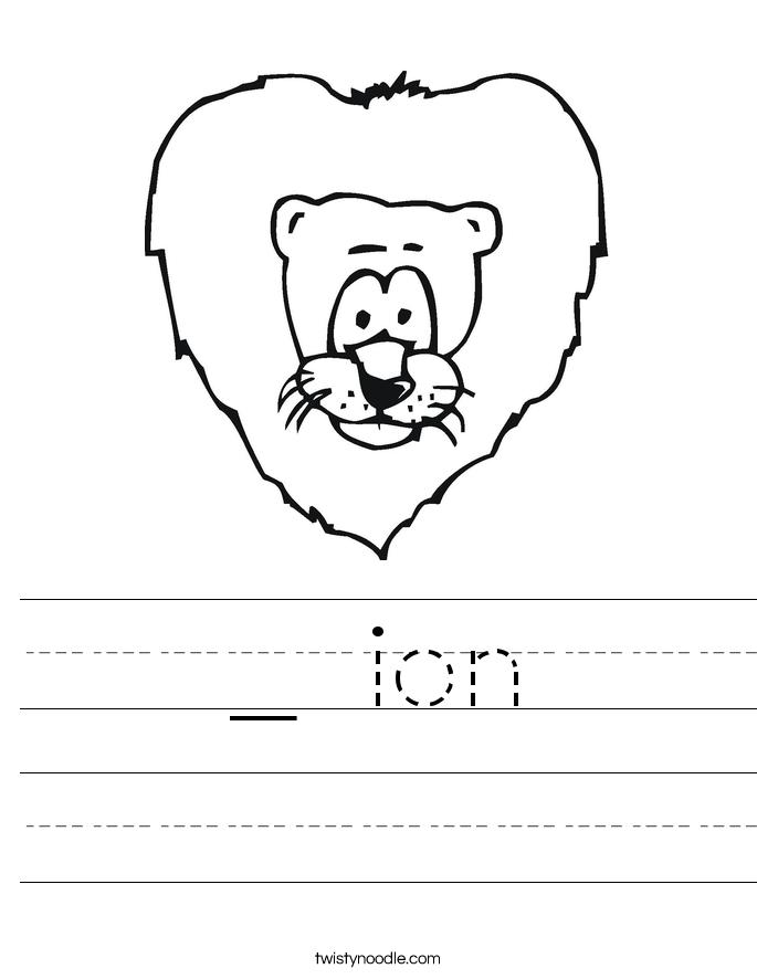 _ ion Worksheet