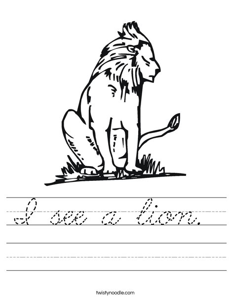 King of the Jungle Worksheet