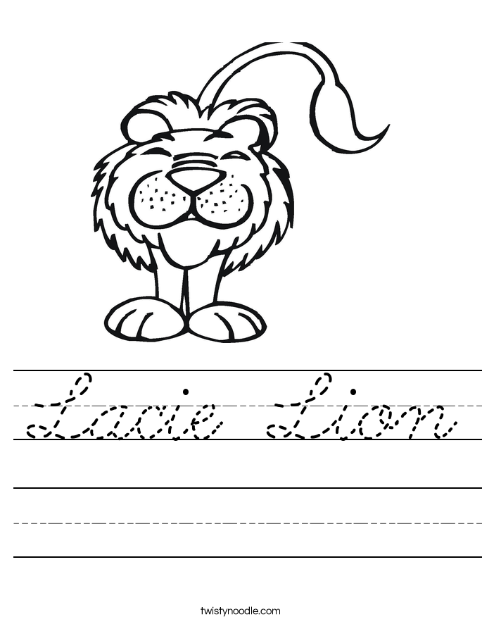 Lacie Lion Worksheet